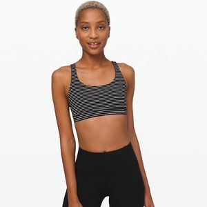 Lululemon Striped Energy Bra Women's Size 12